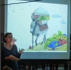 Kinderlesung am 27.8.2015 in der Bücherei Bilk. Arzu Gürz Abay: Die Früchte der Freundschaft