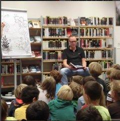 Kinderlesung am 8.9.2015 in der Bücherei Bilk. Christian Mazerath: Das Supertalentier