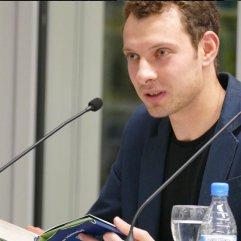 """Jan Himmelfarb war am 19.1.2016 zu Gast bei """"Frisch gepresst"""" in der Zentralbibliothek."""