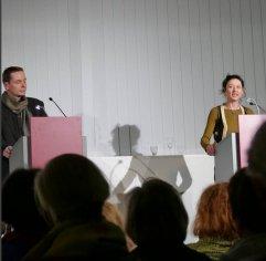 """Am 10.03. fand das Literaturkonzert """"Prinz Jussuf von Theben und der preußische Orpheus"""" statt. Mit Caroline Keufen, So-Young Jeon und Olaf Reitz."""