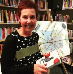 """Am 27.4.2016 ist Dr Gabi Rüth mit ihrem Programm """"Literatur auf Tour"""" Gast in der Bücherei Gerresheim."""