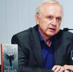 """Hans-Ulrich Treichel war am 17.6.2016 mit seinem Buch """"Tagesanbruch"""" bei einer Lesung zu Gast in der Zentralbibliothek."""