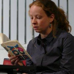 """Wytske Versteeg war mit ihrem Buch """"Boy"""" Gast in der Zentralbibliothek am 13.10. 2016"""