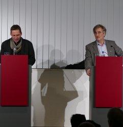 Am 09.11.2016 waren Raimund Fellinger und Olaf Reitz mit dem Literarischen Schnellkurs zu Thomas Bernhard Gäste in der Zentralbibliothek