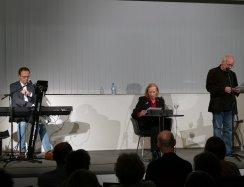 Lutz Strenger, Christiane Lemm und Peter Welk waren am 16.2.2017 zu Gast mit einem Düsseldorfer Literaturkonzert in der Zentralbibliothek.