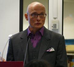 """Frank Heibert war mit einem Vortrag """"zum literarischen Übersetzen zwischen Theorie und Praxis"""" am 17.2.2017 Gast in der Zentralbibliothek"""