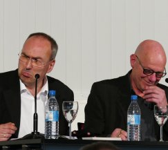 Das Krimi-Duo Hoeps und Toes war am 7.6.2017 mit einer Lesung zu Gast in der Zentralbibliothek.
