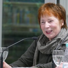 """Am 17.1.2017 war in der Reihe""""Frisch gepresst."""" Brigitte Glauser Gast und hat aus """"Bühlerhöhe"""" in der Zentralbibliothek gelesen."""