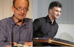 Hesen Kanjo (Musiker) und Stefan Weidner (Übersetzer, Autor, Journalist) waren am 5.10.2017 mit Musik und Lyrik aus Syrien zu Gast in der Zentralbibliothek.
