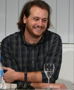 """Tristan Garcia, französischer Autor und Philosoph, war am 10.10.2017 mit einer Lesung von """"Faber. Der Zerstörer"""" zu Gast in der Zentralbibliothek."""