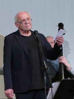 Theodor Weißenborn durfte sich am 1.2.2018 im Literaturkonzert in der Zentralbibliothek zu seinem 85. Geburtstag nochmal hochleben lassen.