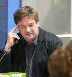 """In der Reihe """"Frisch gepresst"""" hat am 20.02.2018 Markus Orths aus """"Max"""" in der Zentralbibliothek gelesen."""