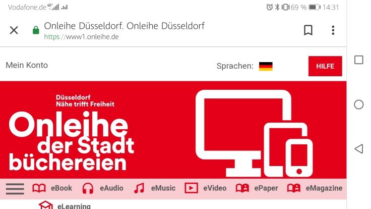 Screenshot der neuen Webseite auf einem Smartphone